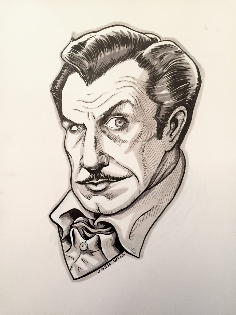Inktober_Vincent_Price